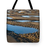 Pattern In The Sand Tote Bag