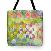 Pattern Of Roses And Flowers Tote Bag