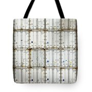 Pattern Of Shipping Container Stack At Depot Tote Bag