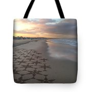 Patterns On Venice Beach Tote Bag by Art Block Collections