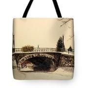 Patterson Creek Bridge In Winter Tote Bag