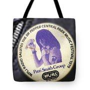 Patti Smith '79 Tote Bag