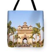 Patuxai Gate - Vientiane - Laos Tote Bag