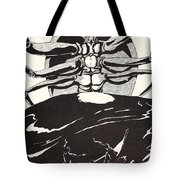 Pau Amma The Crab Rising Out Of The Sea As Tall As The Smoke Of Three Volcanoes Tote Bag