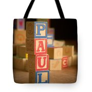 Paul - Alphabet Blocks Tote Bag