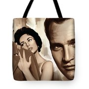 Paul Newman Artwork 2 Tote Bag