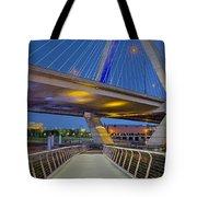 Paul Revere Park And The Zakim Bridge Tote Bag