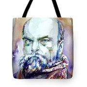 Paul Verlaine - Watercolor Portrait.1 Tote Bag