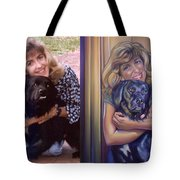 Paula Commissioned Portrait Side By Side Tote Bag