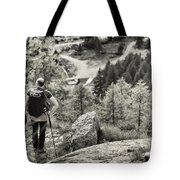 Pause After Climbing Tote Bag