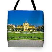Pavillion In Green Park Of Zagreb Tote Bag