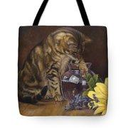 Paw In The Vase Tote Bag