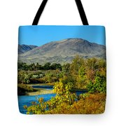 Payette River And Squaw Butte Tote Bag