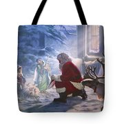 Santa Paying Homage Tote Bag