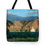 Payson Temple Mountains Tote Bag