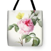 Pink Rose With Buds Tote Bag