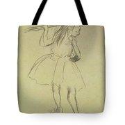 Girl Dancer At The Barre Tote Bag