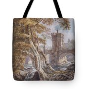 View Of The Old Welsh Bridge Tote Bag