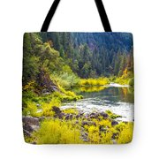 Peace And Tranquility In The Heart Of Feather River, Quincy California Tote Bag