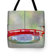 Peace At The Feeder Tote Bag