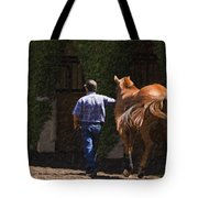 Peace Before The Race - Del Mar Horse Race Tote Bag