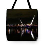The Peace Bridge At Night Tote Bag