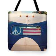 Peace Bus Tote Bag