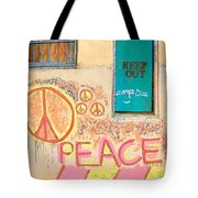 Hippie Graffiti - Peace But Keep Out Tote Bag