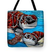 Peace Love And Turtles Tote Bag