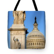 Peace Monument And Capitol Tote Bag