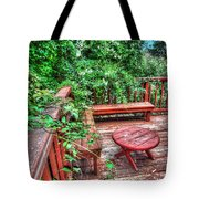 Peace Nature And Geometry Tote Bag