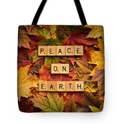 Peace On Earth-autumn Tote Bag