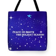 Peace On Earth Card Tote Bag