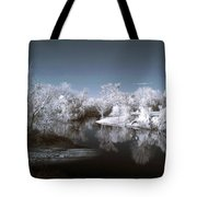 Peace River North Near Infrared Arcadia Florida Usa Tote Bag