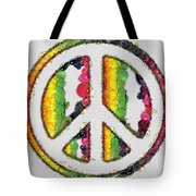 Peace Sign Fruits And Vegetables Tote Bag