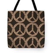 Peace Symbol Collage Tote Bag by Michelle Calkins