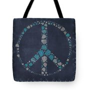 Peace Symbol Design - Btq19at2 Tote Bag by Variance Collections