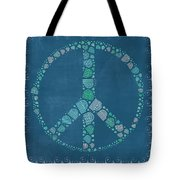 Peace Symbol Design - Tq19at02 Tote Bag by Variance Collections