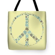 Peace Symbol Design - Y87d Tote Bag by Variance Collections