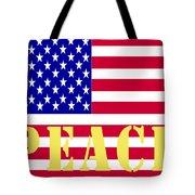 Peace The American Flag Tote Bag