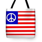 Peace Usa Flag Tote Bag