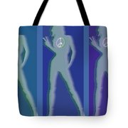 Peace Woman Repeat Tote Bag