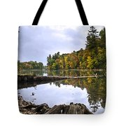 Peaceful Autumn Lake Tote Bag