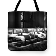 Peaceful Benches Tote Bag by Joan Carroll