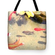Peaceful Day In The Pond Tote Bag