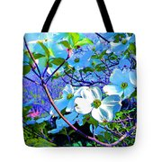 Peaceful Dogwood Spring Tote Bag