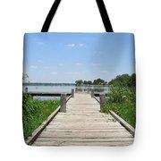 Peaceful Fishing Dock Tote Bag
