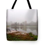 Peaceful Foggy Morning Marr Park Tote Bag