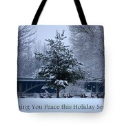 Peaceful Holiday Card - Winter Landscape Tote Bag