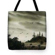 Peaceful Inland Cove Tote Bag